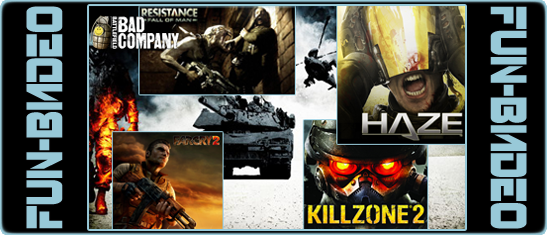 Video Killzone 2, Haze, Battlefield: Bad Company, Resistance, Far Cry 2