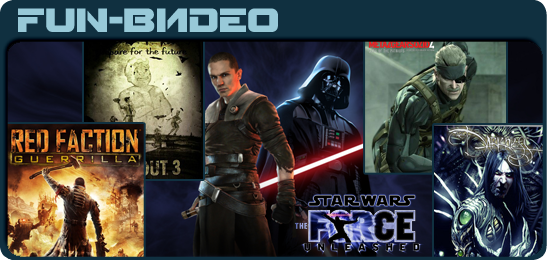 Video Red Faction: Guerrilla, Fallout 3, Metal Gear Solid 4, Star Wars The Force Unleashed, The Darkness