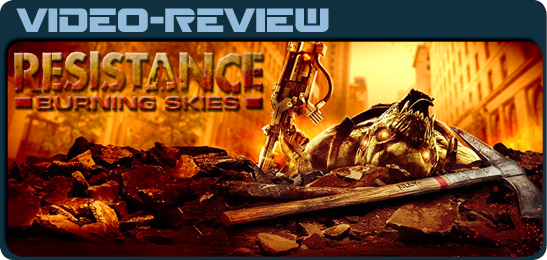 Resistance: Burning Skies for PS Vita видео рецензия