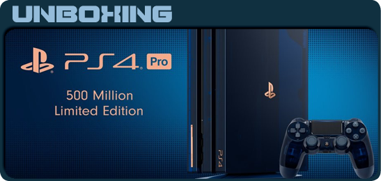 PS4 Pro 500 Million Limited Edition Unbox