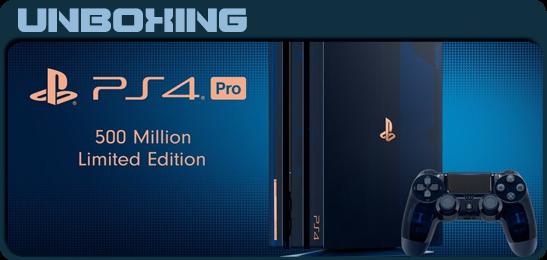 PS4 Pro 500 Million Limited Edition Unbox
